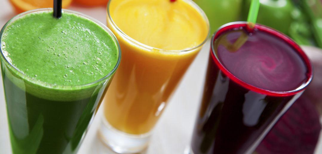 Farverige juices